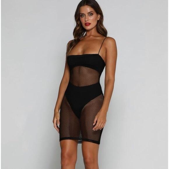 Fishnet dress meshki